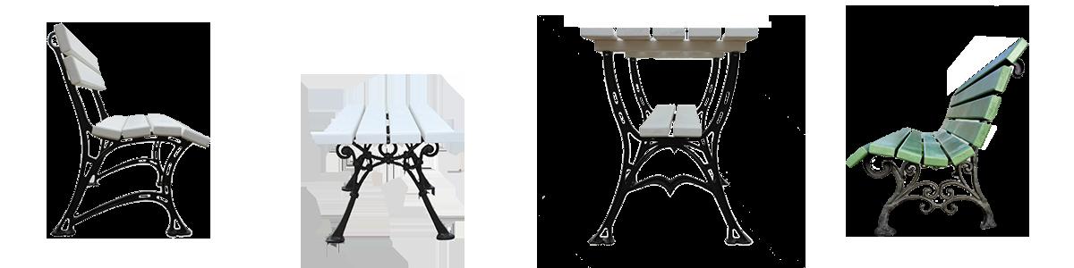 Välimööbel (pingid, aiamööbel), furnituur, sisustuselemendid (lambid, nagid)